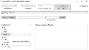 Vulcan RFID™ UHF Tag Read & Write Software   VUL-UHF-READ-WRITE-SOFTWARE