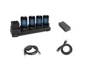 Zebra 5-Slot Charge Only Cradle with 4-Slot Spare Battery Charger for TC5X Mobile Computers   CRD-TC51-5SC4B-01-KIT