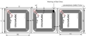 Smartrac 50 X 50 mm HF RFID Paper Tag (NXP ICODE SLIX) - 4,000 Tags[Clearance] | 3001920