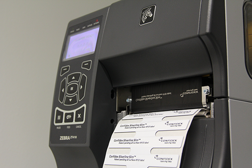 203 dpi, 4 Inch Print Width, Serial, Parallel, USB, UHF Zebra ZT410 RFID Printer