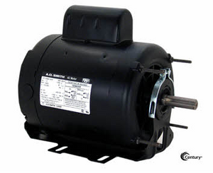 C412V1 - 1/2 HP Belt Drive Motor, Capacitor-Start, 1725 Nameplate RPM, 115/208-230 Voltage, Frame 56