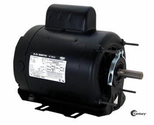C412V1 - 1/2 HP Belt Drive Motor, Capacitor-Start, 1725 Nameplate RPM, 115/208-230 Voltage, Frame 56