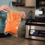 Avid Armor USV32 chamber vacuum sealer can seal liquids, soups, stews and marinades with ease.