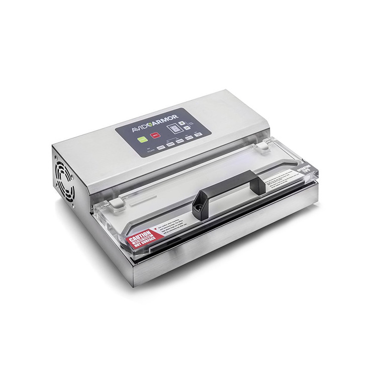 Avid Armor heavy-duty vacuum sealer for harvesting, butchering, meal prep, sous vide cooking and freezer storage.