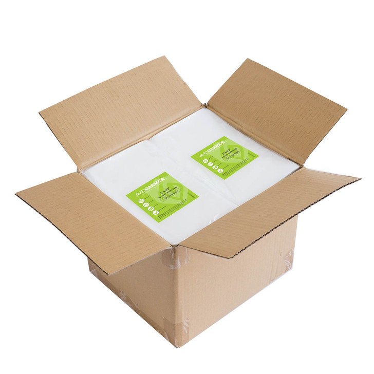 Buy in bulk by the case! 1200 6x10 pint size vacuum sealer bags for Foodsaver