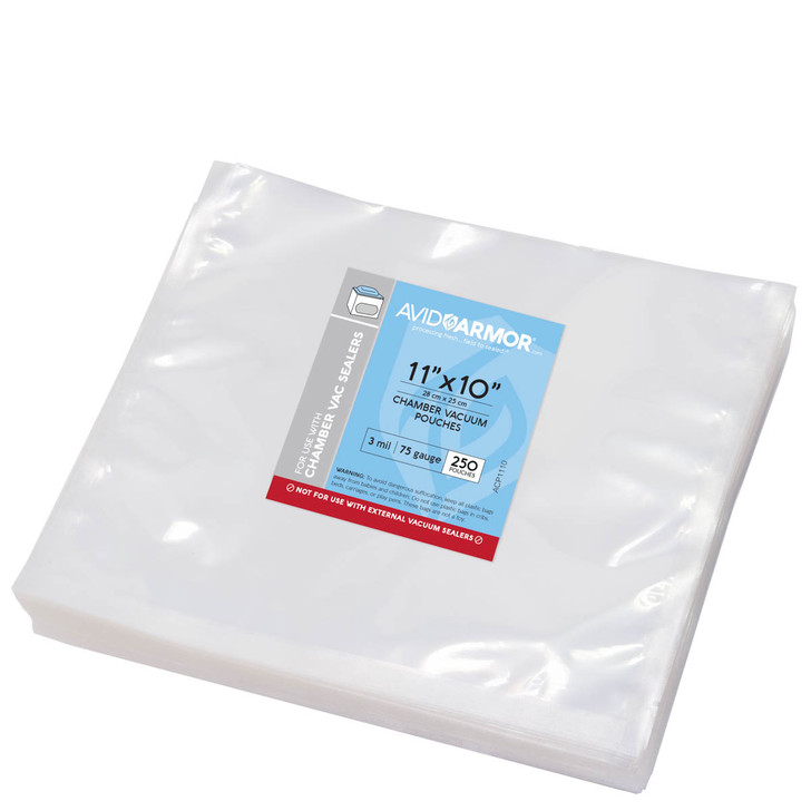 "11""x10"" - 250 Pack Chamber Vacuum Sealer Pouches"