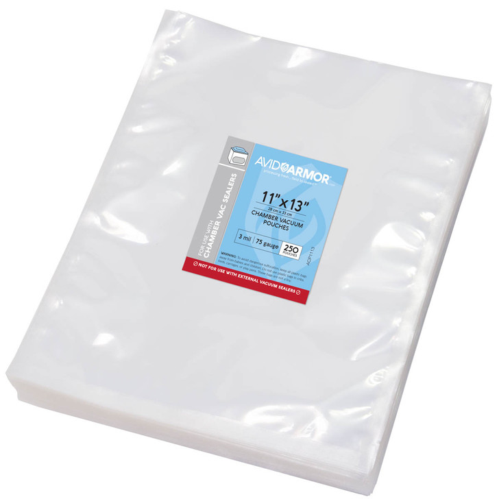 """11""""x13"""" - 250 Pack Chamber Vacuum Sealer Pouches"""
