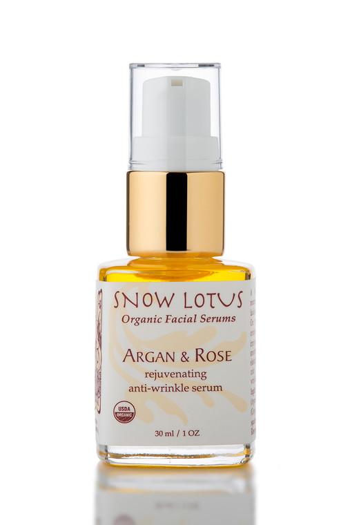 Argan & Rose Rejuvenating Antiwrinkle Organic Facial Serum 30 ml /1 oz