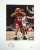 Rick Mahorn Autographed 16x20 Matted Photo Philadelphia 76ers PSA/DNA #AB51614