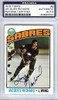 Jacques Richard Autographed 1976 Topps Card #8 Buffalo Sabres PSA/DNA #83894550