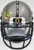 LaMichael James Autographed Oregon Ducks Authentic Gray Mini Helmet TriStar Stock #54704