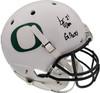 "LaMichael James Autographed Oregon Ducks White Full Size Helmet ""Go Ducks"" PSA/DNA Stock #72894"
