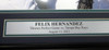 """Felix Hernandez Autographed Framed 16x20 Photo Seattle Mariners """"P.G. 8-15-12"""" Perfect Game PSA/DNA Stock #94161"""