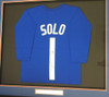 Team USA Hope Solo Autographed Framed Blue Jersey PSA/DNA Stock #94201