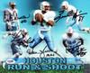 "Houston Oilers Run & Shoot Autographed 8x10 Photo ""HOF 06"" With 5 Signatures Including Warren Moon PSA/DNA Stock #102372"
