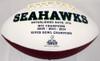 Unsigned Seattle Seahawks White Logo Football Stock #105665