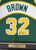 """Seattle Sonics """"Downtown"""" Fred Brown Autographed Framed Green Jersey MCS Holo Stock #107766"""