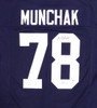 Penn State Nittany Lions Mike Munchak Autographed Blue Jersey Beckett BAS Stock #114984