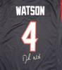 Houston Texans Deshaun Watson Autographed Blue Nike Jersey Size XL Beckett BAS Stock #121900