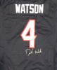 Houston Texans Deshaun Watson Autographed Blue Nike Jersey Size L Beckett BAS Stock #122065