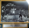 """""""Downtown"""" Fred Brown Autographed Framed 8x10 Photo Seattle Sonics MCS Holo Stock #123676"""