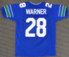 """Seattle Seahawks Curt Warner Autographed Blue Jersey """"ROH 94"""" MCS Holo Stock #124669"""