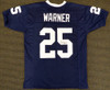 Penn State Nittany Lions Curt Warner Autographed Blue Jersey MCS Holo Stock #124671