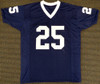 """Penn State Nittany Lions Curt Warner Autographed Blue Jersey """"CHOF 09"""" MCS Holo Stock #124673"""