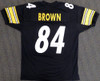 Pittsburgh Steelers Antonio Brown Autographed Black Jersey Beckett BAS Stock #126633