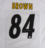 Pittsburgh Steelers Antonio Brown Autographed White Jersey Beckett BAS Stock #126632