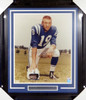 Johnny Unitas Autographed Framed 16x20 Photo Colts PSA/DNA #X01960