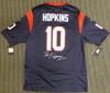 Houston Texans DeAndre Hopkins Autographed Blue Nike Jersey Size L Beckett BAS Stock #129160