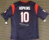 Houston Texans DeAndre Hopkins Autographed Blue Nike Jersey Size XL Beckett BAS Stock #129161