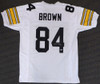 Pittsburgh Steelers Antonio Brown Autographed White Jersey Beckett BAS Stock #129841