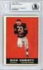 Dick Christy Autographed 1961 Topps Card #184 Oakland Raiders Beckett BAS #10378341