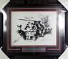 Muhammad Ali, Joe Frazier & LeRoy Neiman Autographed Framed Fight Of The Century Lithograph Photo Beckett BAS #A74190