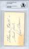 """Paul Waner Autographed 2x3.5 Blank Business Card Pittsburgh Pirates """"To Edith Good Luck"""" Vintage Playing Days Signature Beckett BAS #10541085"""