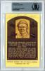 Freddie Lindstrom Autographed HOF Plaque Postcard Cincinnati Reds, New York Giants Beckett BAS #10734455