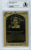 Rick Ferrell Autographed 1984 HOF Metallic Plaque Card Boston Red Sox Beckett BAS #10982500