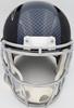Russell Wilson Autographed Seattle Seahawks Matte Black Speed Full Size Replica Helmet In Silver RW Holo Stock #145782