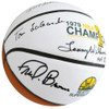 """1978-79 NBA Champions Seattle Supersonics Multi Signed Autographed Basketball With 9 Signatures Including Fred Brown & Lenny Wilkens """"HOF 89, 98, 10"""" MCS Holo Stock #145852"""