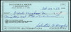 Sal Maglie Autographed 3x6 Check Brooklyn Dodgers, New York Yankees SKU #147878