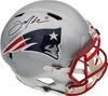 Julian Edelman Autographed New England Patriots Full Size Speed Replica Helmet Beckett BAS Stock #147911