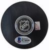 Brett Hull Autographed Official Dallas Stars Logo Puck In Silver Beckett BAS Stock #152349