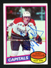 Bengt Gustafsson Autographed 1980-81 Topps Rookie Card #222 Washington Capitals SKU #154280