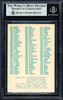 Pee Wee Reese, Carl Erskine & Ralph Branca Autographed 1976 SSPC Card #594 Brooklyn Dodgers Beckett BAS #11627986