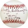 Sam Mele Autographed Official NL Baseball Washington Senators, Minnesota Twins Full Name Beckett BAS #S50774