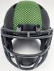 Unsigned Seattle Seahawks Eclipse Black Speed Mini Helmet Stock #163519