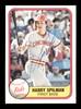 Harry Spilman Autographed 1981 Fleer Card #209 Cincinnati Reds SKU #166527
