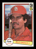 Julio Gonzalez Autographed 1982 Donruss Card #645 St. Louis Cardinals SKU #166611